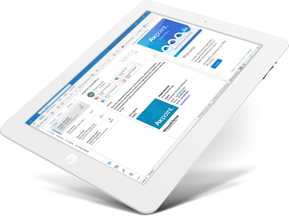 Axpoint smartoffice on iPad